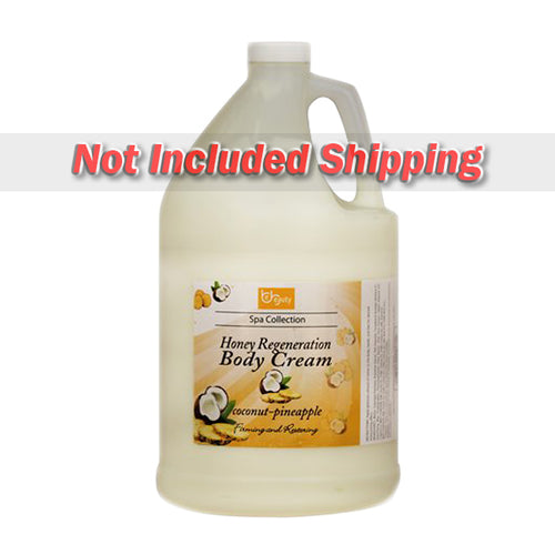 Be Beauty Spa Collection, Honey Regeneration Body Cream, Coconut & Pineapple, 1 Gallon, CLOT010G1
