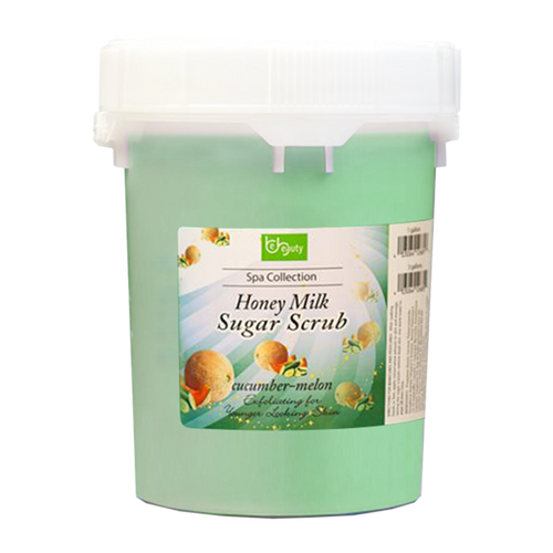 Be Beauty Spa Collection, Honey Organic Sugar Scrub, CSC2126G5, Cucumber & Melon, 5Gallon KK0511