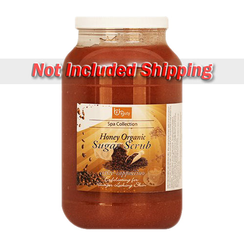 Be Beauty Spa Collection, Honey Organic Sugar Scrub, CSC2121G1, Coffee & Cappuccino, 1Gallon