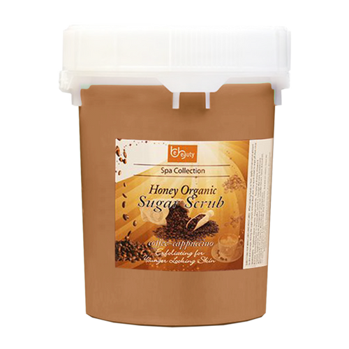 Be Beauty Spa Collection, Honey Organic Sugar Scrub, CSC2121G5, Coffee & Cappuccino, 5Gallon