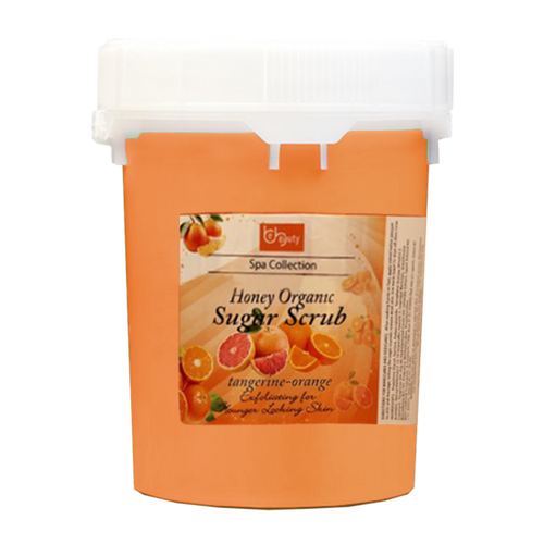 Be Beauty Spa Collection, Honey Organic Sugar Scrub, CSC2119G5, Tangerine & Orange, 5Gallon