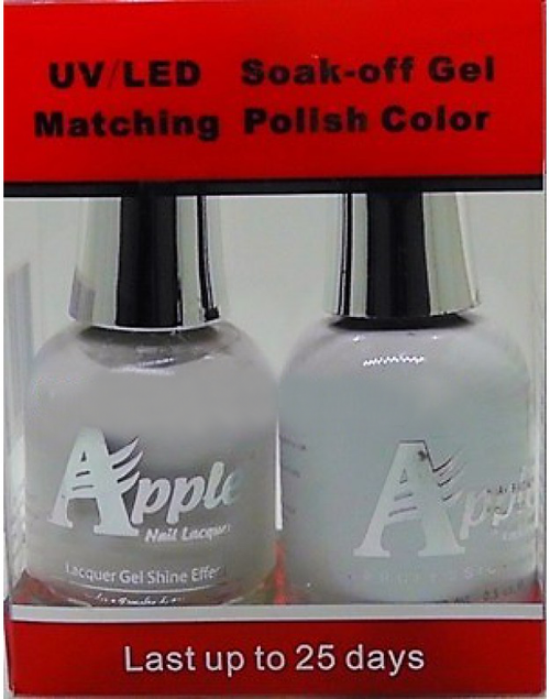 Apple Nail Lacquer And Gel Polish, 203, Ultra-White, 0.5oz KK1016