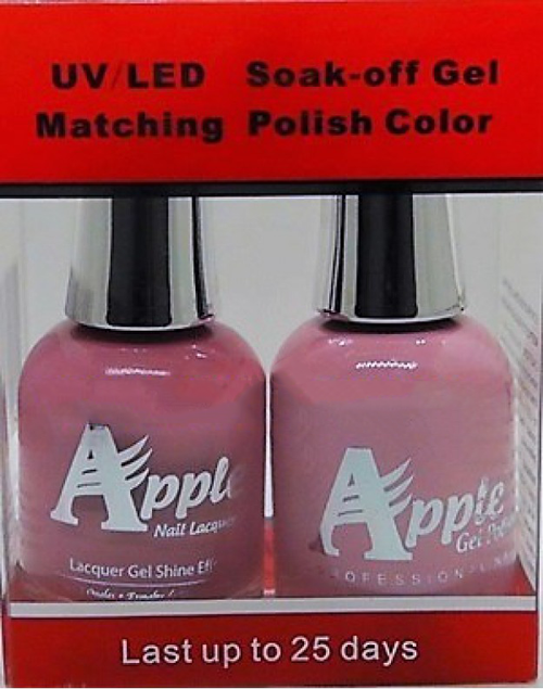 Apple Nail Lacquer And Gel Polish, 251, Dusty-Pink, 0.5oz KK