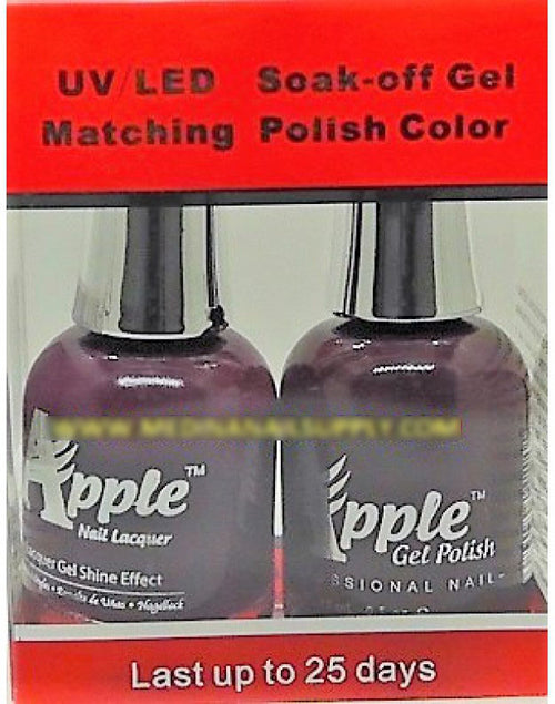 Apple Nail Lacquer And Gel Polish, 296, Happy Barney, 0.5oz KK