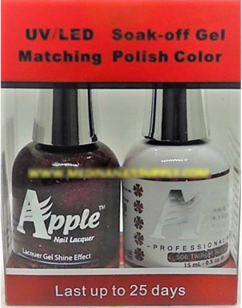 Apple Nail Lacquer And Gel Polish, 506, Twilight Scarlet, 0.5oz KK