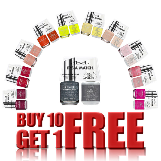 IBD Just Gel Polish 1, It's A Match Duo, 0.5oz, Full Line of 153 colors, Buy 10 Get 1 FREE