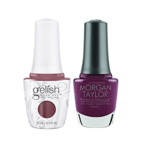 Gelish Gel Polish & Morgan Taylor Nail Lacquer 1, 1110331 + 3110331, Forever Fabulous Winter Collection 2018, I Prefer Millionaires, 0.5oz KK1011