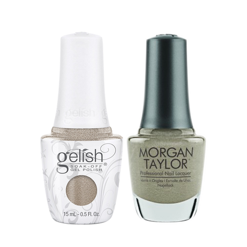 Gelish Gel Polish & Morgan Taylor Nail Lacquer 1, 1110333 + 3110333, Forever Fabulous Winter Collection 2018, Ice Or No Dice, 0.5oz KK1011