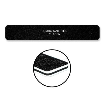 Cre8tion Nail Files JUMBO BLACK Sand, Grit 60/60, 30pks/case, 50pcs/pack, 07005