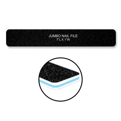 Cre8tion Nail Files JUMBO BLACK Sand, Grit 80/80, 30pks/case, 50pcs/pack, 07006
