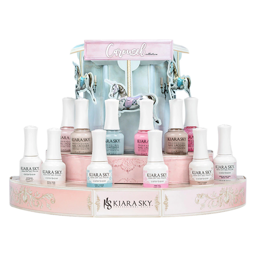 Kiara Sky Gel Polish 2, Carousel Collection, Full line of 6 colors (from G579 - G584, Price: $7.95/pc), 0.5oz