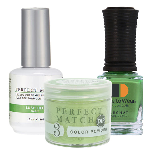 Perfect Match 3in1 Dipping Powder + Gel Polish + Nail Lacquer, PMDP178, Lush Life KK1024