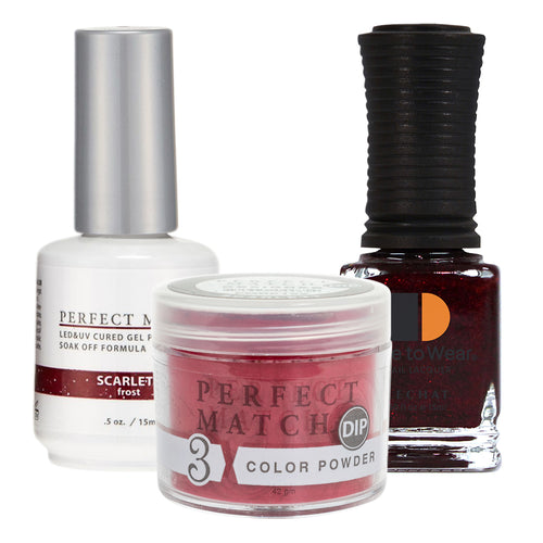 Perfect Match 3in1 Dipping Powder + Gel Polish + Nail Lacquer, PMDP192, Scarlett KK1024