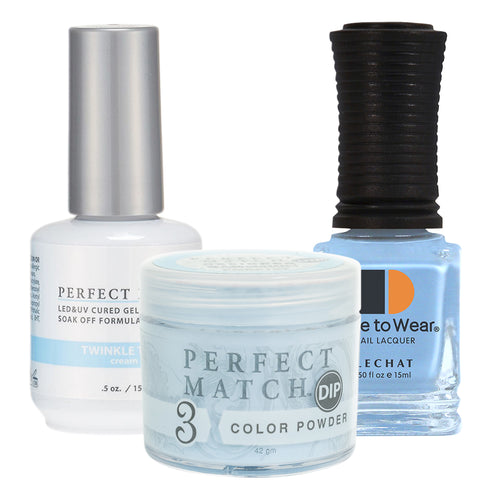 Perfect Match 3in1 Dipping Powder + Gel Polish + Nail Lacquer, PMDP197, Twinkle Toes KK1024