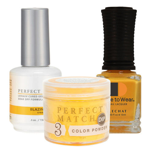 Perfect Match 3in1 Dipping Powder + Gel Polish + Nail Lacquer, PMDP201, Blazin' Sun KK1024