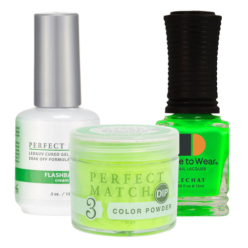 Perfect Match 3in1 Dipping Powder + Gel Polish + Nail Lacquer, PMDP203, Flashback  KK1024