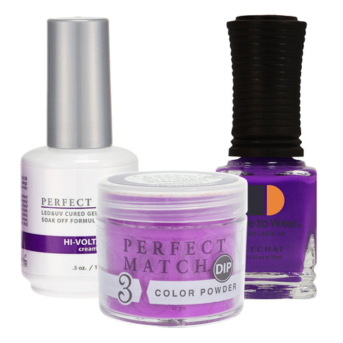 Perfect Match 3in1 Dipping Powder + Gel Polish + Nail Lacquer, PMDP204, Hi-Voltage  KK1024