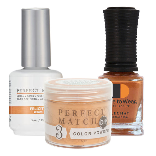 Perfect Match 3in1 Dipping Powder + Gel Polish + Nail Lacquer, PMDP205, Felicity KK1024