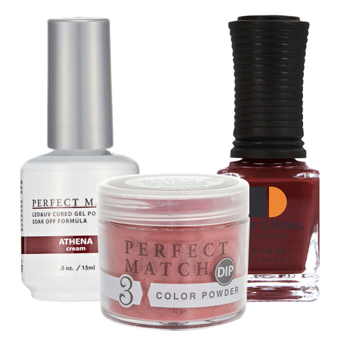 Perfect Match 3in1 Dipping Powder + Gel Polish + Nail Lacquer, PMDP207, Athena KK1024