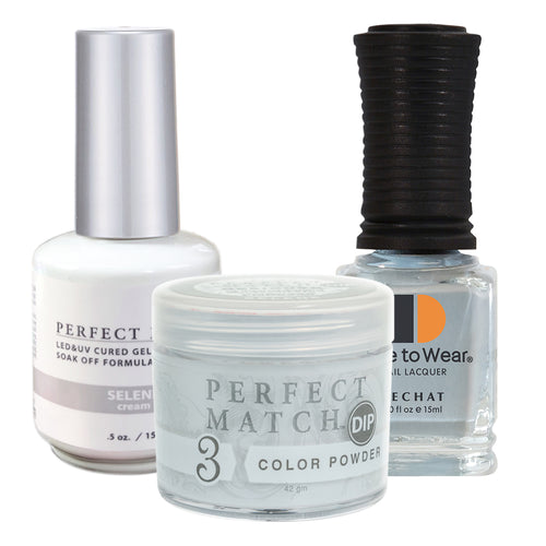 Perfect Match 3in1 Dipping Powder + Gel Polish + Nail Lacquer, PMDP220, Selene KK1024