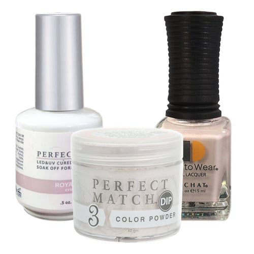 Perfect Match 3in1 Dipping Powder + Gel Polish + Nail Lacquer, PMDP224, Royal Tea KK1024