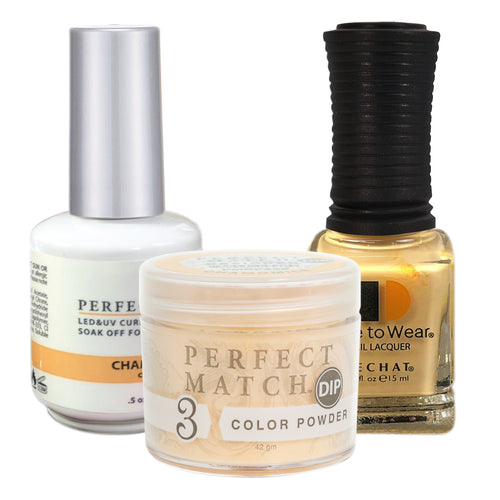 Perfect Match 3in1 Dipping Powder + Gel Polish + Nail Lacquer, PMDP226, Chamomile KK1024