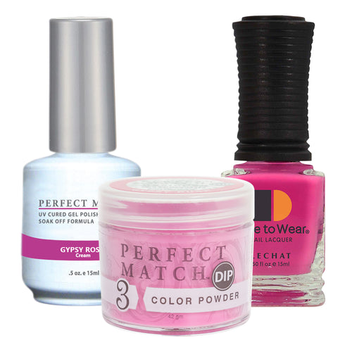 Perfect Match 3in1 Dipping Powder + Gel Polish + Nail Lacquer, PMDP234, Gypsy Rose KK1024