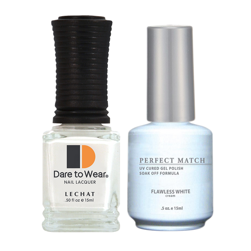 LeChat Perfect Match Nail Lacquer And Gel Polish, PMS007, Flawless White, 0.5oz BB KK1213