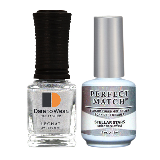 LeChat Perfect Match Nail Lacquer And Gel Polish, SPECTRA Collection, SPMS05, Stellar Stars, 0.5oz KK0919
