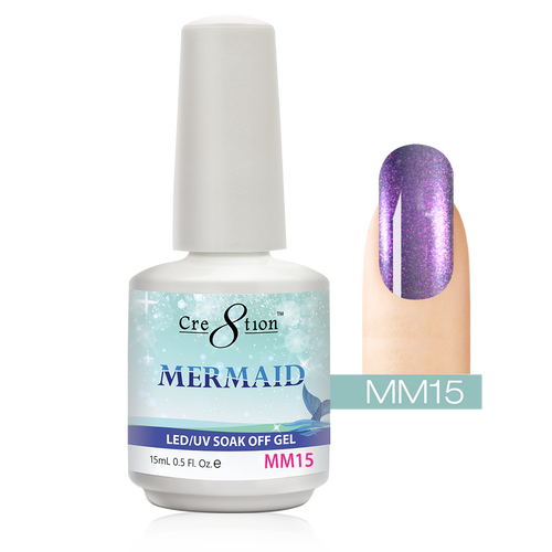 Cre8tion Mermaid Gel Polish, 0916-0597, 0.5oz, MM15 KK1004