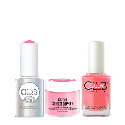 Color Club 3in1 Dipping Powder + Gel Polish + Nail Lacquer , Serendipity, MOD-ern Pink, 1oz, 05XDIPN15-1 KK