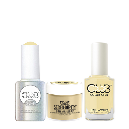 Color Club 3in1 Dipping Powder + Gel Polish + Nail Lacquer , Serendipity, Macaroon Swoon, 1oz, 05XDIP1036-1 KK