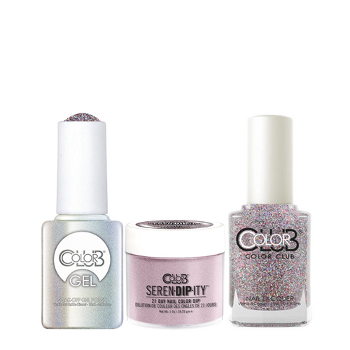 Color Club 3in1 Dipping Powder + Gel Polish + Nail Lacquer , Serendipity, Magic Attraction, 1oz, 05XDIP843-1 KK
