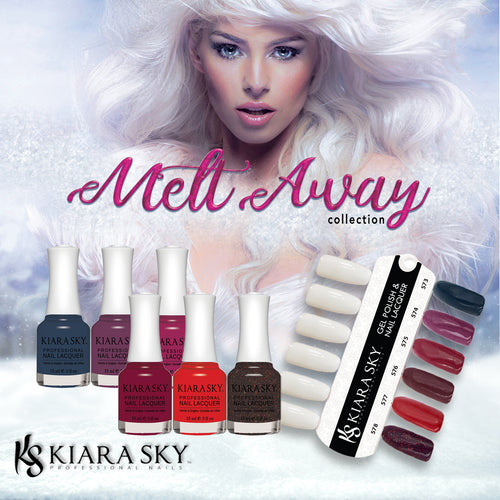 Kiara Sky Nail Lacquer 1, Melt Away Collection, Full Collection Of 6 Colors (from 573 to 578)