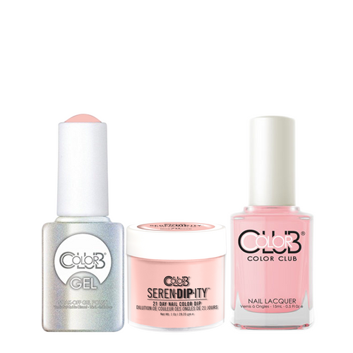 Color Club 3in1 Dipping Powder + Gel Polish + Nail Lacquer , Serendipity, More Amour, 1oz, 05XDIP933-1 KK
