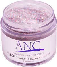 ANC Dipping Powder, 2OP030, Multi Color Shimmer, 2oz, 74597 KK
