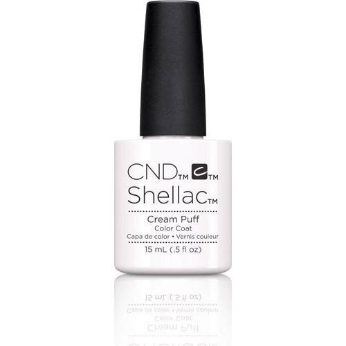 CND Shellac Gel Polish, 40501, Cream puff - Limited Edition, 0.5oz KK
