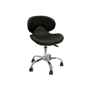 Cre8tion Nail Technician Chair, Black, 29038 BB (NOT Included Shipping Charge)