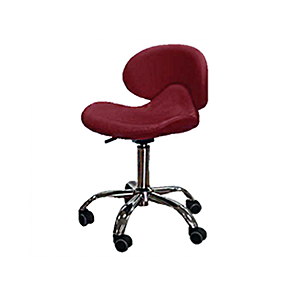Cre8tion Nail Technician Chair, Burgundy, 29037 BB KK (NOT Included Shipping Charge)