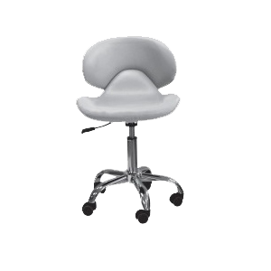 Cre8tion Nail Technician Chair, Grey, 29039 BB KK (NOT Included Shipping Charge)