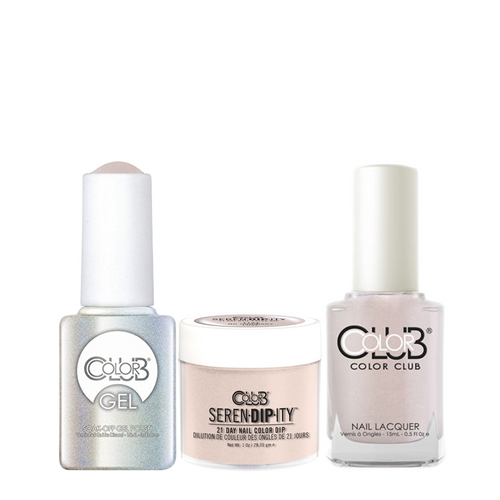 Color Club 3in1 Dipping Powder + Gel Polish + Nail Lacquer , Serendipity, No Ordinary Love, 1oz, 05XDIP1124-1 KK