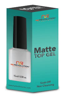 NuRevolution Matte Top Gel, 0.5oz KK0918