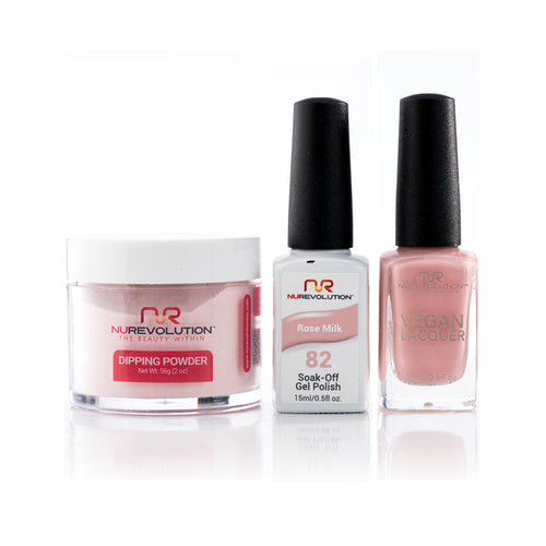 NuRevolution 3in1 Dipping Powder + Gel Polish + Nail Lacquer, 082, OK1129