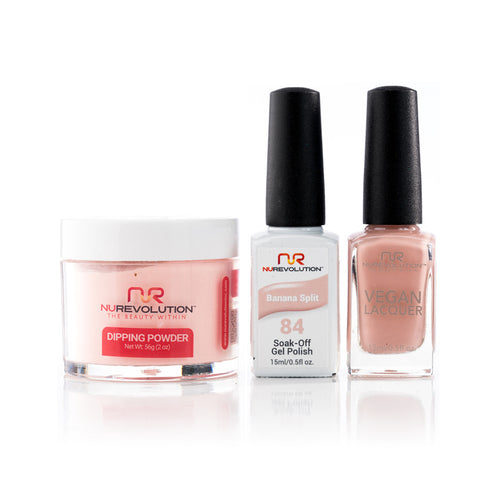 NuRevolution 3in1 Dipping Powder + Gel Polish + Nail Lacquer, 084, OK1129