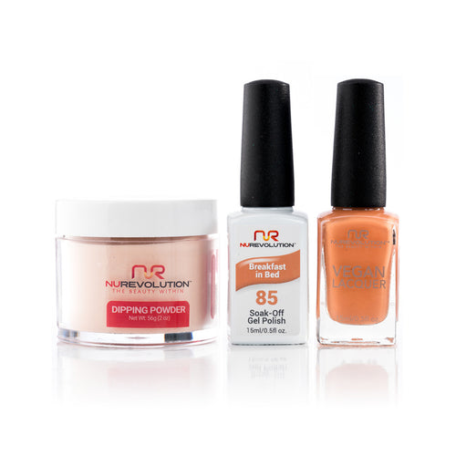 NuRevolution 3in1 Dipping Powder + Gel Polish + Nail Lacquer, 085, OK1129