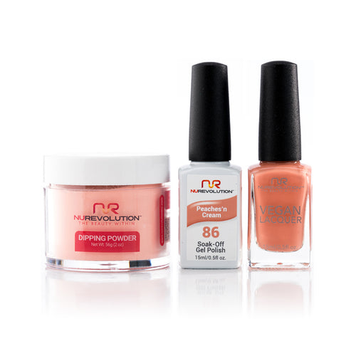 NuRevolution 3in1 Dipping Powder + Gel Polish + Nail Lacquer, 086, OK1129