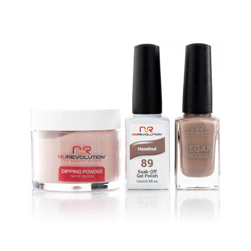 NuRevolution 3in1 Dipping Powder + Gel Polish + Nail Lacquer, 089, OK1129