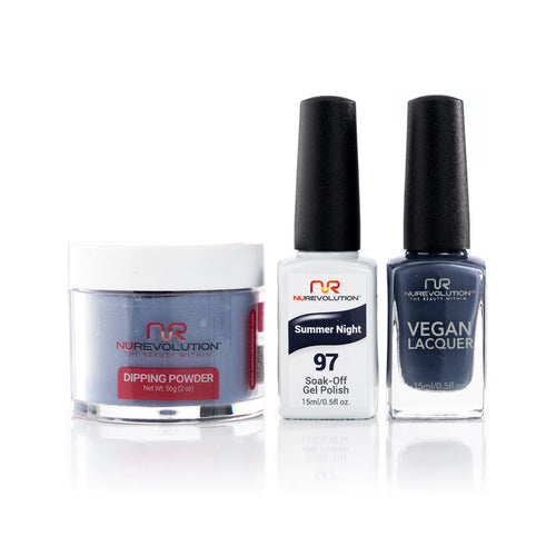 NuRevolution 3in1 Dipping Powder + Gel Polish + Nail Lacquer, 097, OK1129