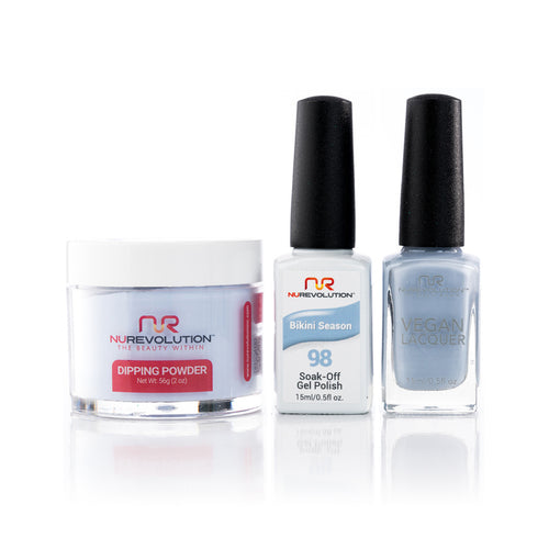 NuRevolution 3in1 Dipping Powder + Gel Polish + Nail Lacquer, 098, OK1129