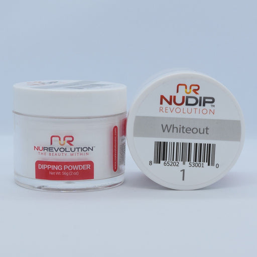 NuRevolution Dipping Powder, 001, Whiteout, 2oz OK0502VD